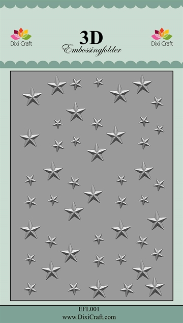 Dixi Craft 3D Embossing Folder - EFL001 - Stars #1