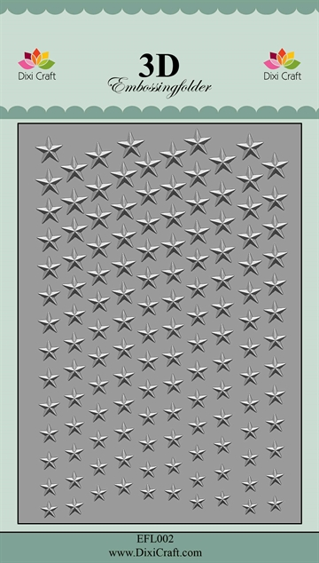 Happymade - Dixi Craft 3D Embossing Folder - EFL002 - Stars #2