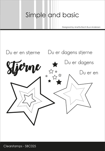 Happymade - Simple and basic - Clear stamp - Dagens stjerne... (SBC025)