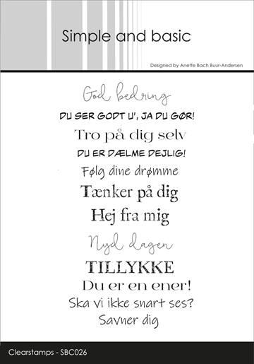 Happymade - Simple and basic - Clear stamp - Du ser godt u', ja du gør... (SBC026)