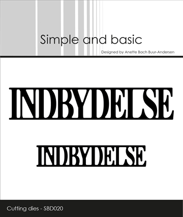 Happymade - Simple and basic - Die - Indbydelse (SBD020)