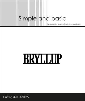 Happymade - Simple and basic - Die - Bryllup (SBD022)