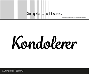Happymade - Simple and basic - Die - Kondolerer (SBD143)