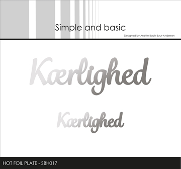 Happymade - Simple and basic - Hot Foil Plate - Kærlighed (SBH017)