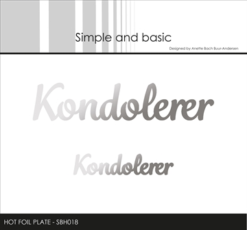 Happymade - Simple and basic - Hot Foil Plate - Kondolerer (SBH018)