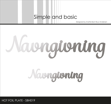 Happymade - Simple and basic - Hot Foil Plate - Navngivning (SBH019)