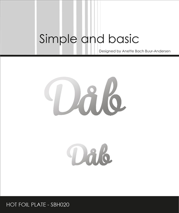 Happymade - Simple and basic - Hot Foil Plate - Dåb (SBH020)