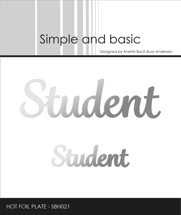 Happymade - Simple and basic - Hot Foil Plate - Student (SBH021)