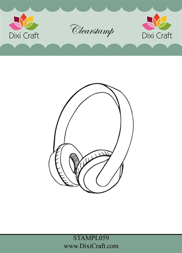 Happymade - Dixi Craft Clear Stamp - STAMPL059 - Headphones (288859)