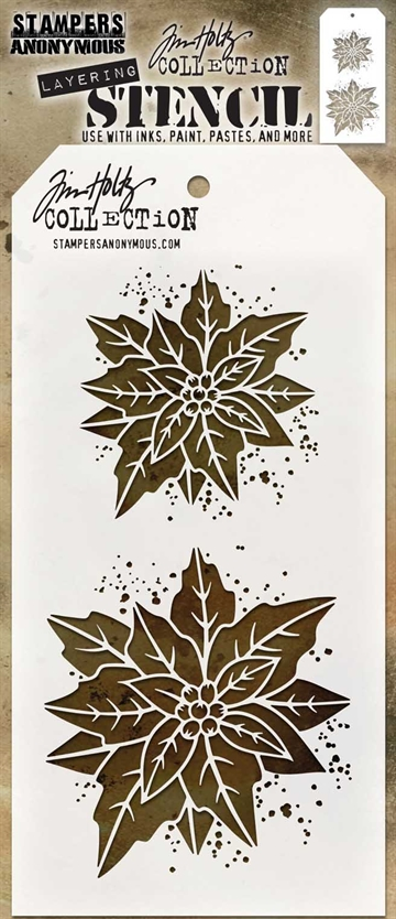 Happymade - Tim Holtz - Stencil Set THS153 (Poinsettia Duo)