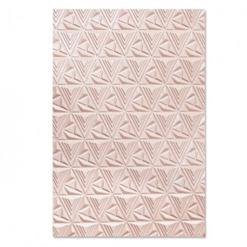 Happymade - Sizzix 3D Embossing folder - Geometric Lattice (664425)