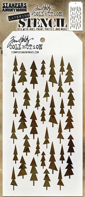 Happymade - Tim Holtz - Stencil Set THS150 (Tree Lot)