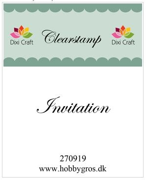 Dixi Craft - Clear stamp - Invitation