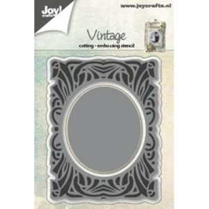 Joy - Vintage - Background w/oval - die - 6002/0592