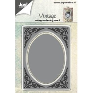 Joy - Vintage - Background w/oval - die - 6002/0593