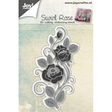 Joy - 3D Die - Swirl Rose - 6002/0652