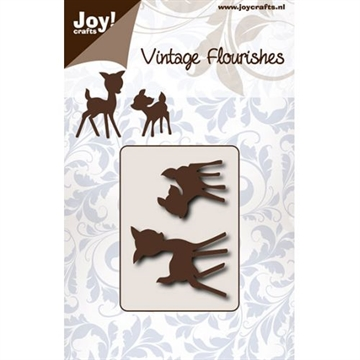 Joy - Vintage Flourishes - Small deer - die - 6003/0075