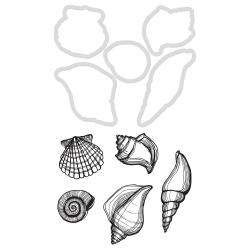 KaiserCraft clear stamp m/die - Seashells - DD910