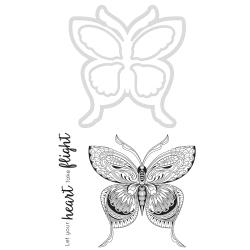 KaiserCraft clear stamp m/die - Butterfly - DD928