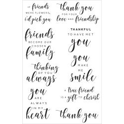 KaiserCraft clear stamp - Friend sentiments - CS294