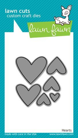 Lawn Fawn die set - Hearts