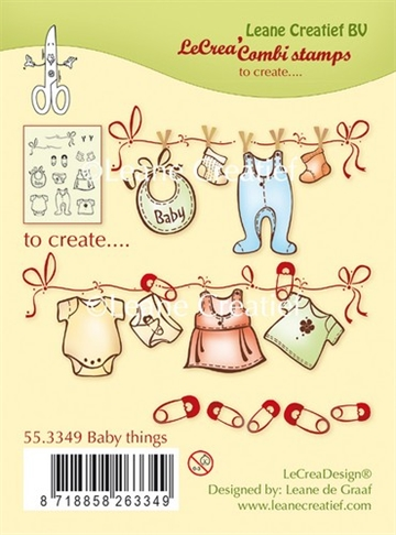 Leane Creatief - Clear stamps - Baby Things