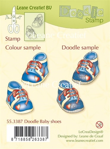Leane Creatief - Clear stamp - Baby Shoes