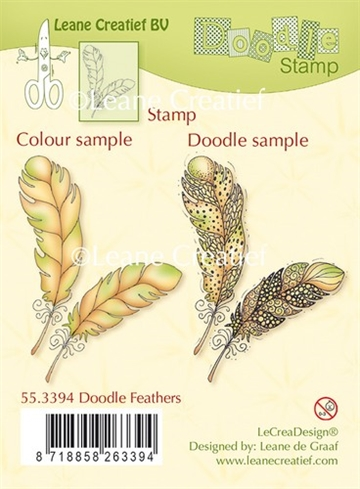 Leane Creatief - Clear stamp - Feathers