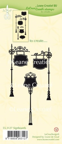 Leane Creatief - Clear stamps - Signboards