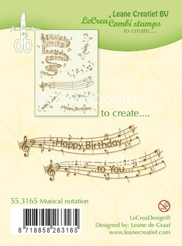 Leane Creatief - Clear stamps - Musical notation