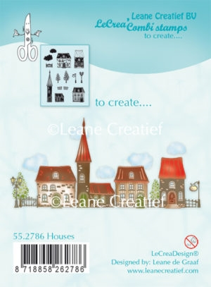 Leane Creatief clear stamp - Houses