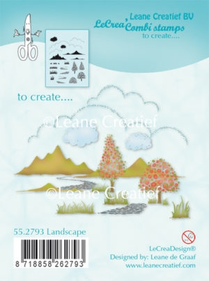 Leane Creatief clear stamp - Landscape