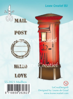 Leane Creatief clear stamp - Mailbox