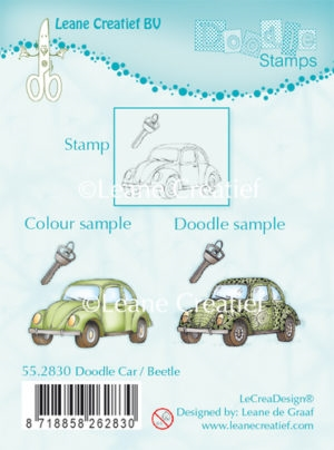 Leane Creatief clear stamp - Doodle Car/Beetle