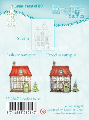 Leane Creatief clear stamp - Doodle House
