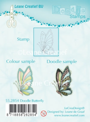 Leane Creatief clear stamp - Doodle Butterfly