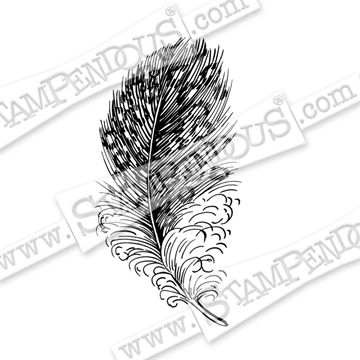 Stampendous - Cling Rubber Stamp - Spotted Feather