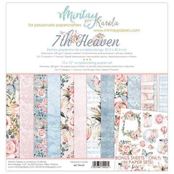 "Happymade - Mintay Papers - Design papers - 7th. Heaven - 12x12"" (pakn. m/12 + 1 bonus ark)"