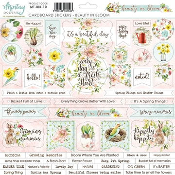 Happymade - Mintay Papers - Cardboard Stickers - Beauty in Bloom - 12x12""