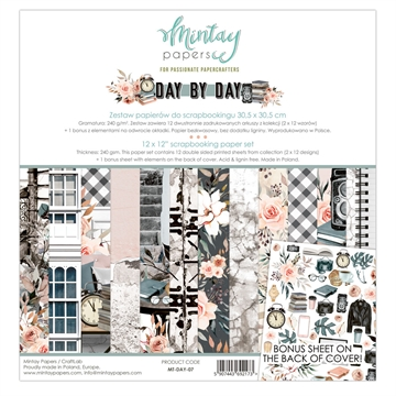 "Happymade - Mintay Papers - Design papers - Day by Day - 12x12"" (pakn. m/12 + 1 bonus ark)"