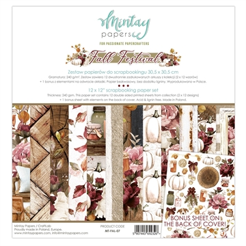 "Happymade - Mintay Papers - Design papers - Fall Festival - 12x12"" (pakn. m/12 + 1 bonus ark)"