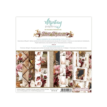 "Happymade - Mintay Papers - Design papers - Fall Festival - 6x6"" (blok m/24 + 2 bonus ark)"