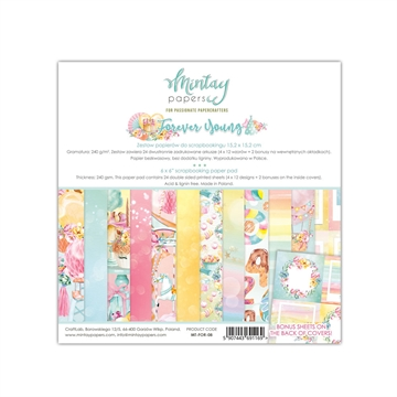 "Happymade - Mintay Papers - Design papers - Forever Young - 6x6"" (blok m/24 + 2 bonus ark)"