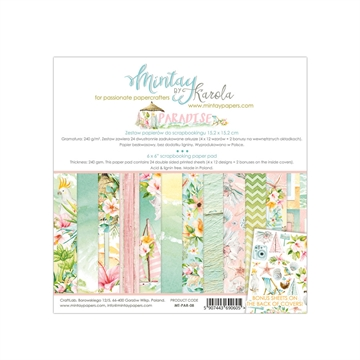 "Happymade - Mintay Papers - Design papers - Paradise - 6x6"" (blok m/24 + 2 bonus ark)"