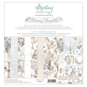 "Happymade - Mintay Papers - Design papers - Precious Moment - 12x12"" (pakn. m/12 + 1 bonus ark)"