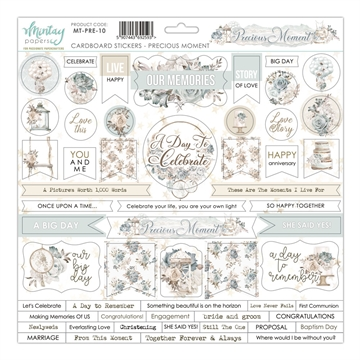 Happymade - Mintay Papers - Cardboard Stickers - Precious Moment - 12x12""