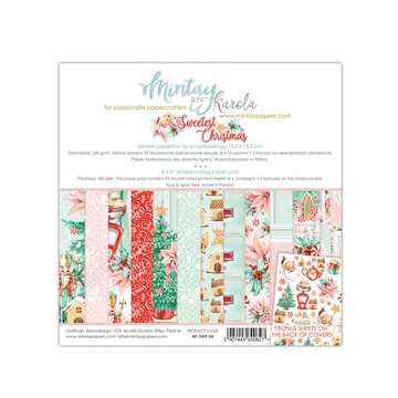 "Happymade - Mintay Papers - Design papers - The Sweetest Christmas - 6x6"" (blok m/24 + 2 bonus ark)"