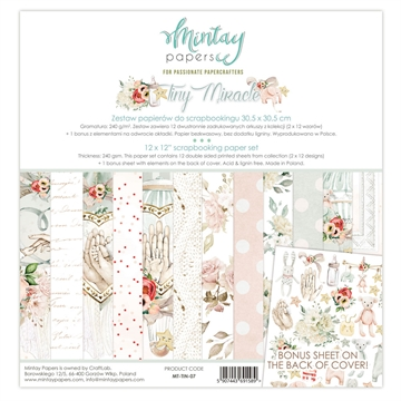 "Happymade - Mintay Papers - Design papers - Tiny Miracle - 12x12"" (pakn. m/12 + 1 bonus ark)"