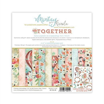 "Happymade - Mintay Papers - Design papers - Together - 6x6"" (blok m/24 + 2 bonus ark)"
