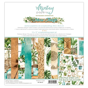 "Happymade - Mintay Papers - Design papers - Urban Jungle - 12x12"" (pakn. m/12 + 1 bonus ark)"